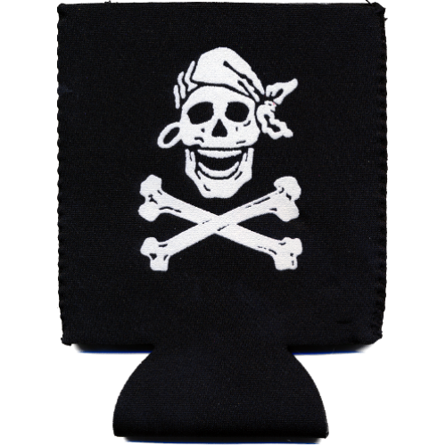 Skully Black Pocket Koozie