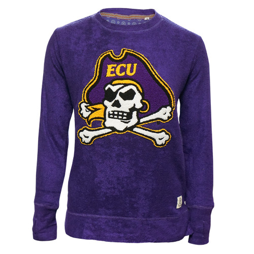 Purple Terry Chanille Jolly Roger Crew
