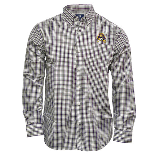 Purple and Grey Plaid Buttondown Jolly Roger