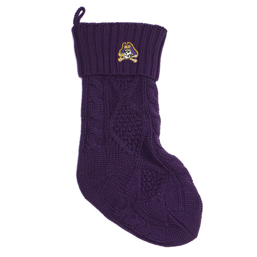 Christmas Stocking Purple Knit Jolly Roger