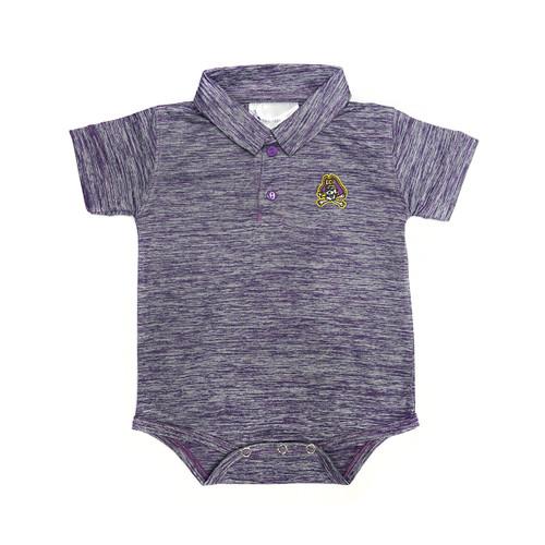 Infant Onesie Polo Purple Heather Dri Fit Jolly Roger