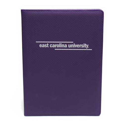 Padholder Purple White East Carolina