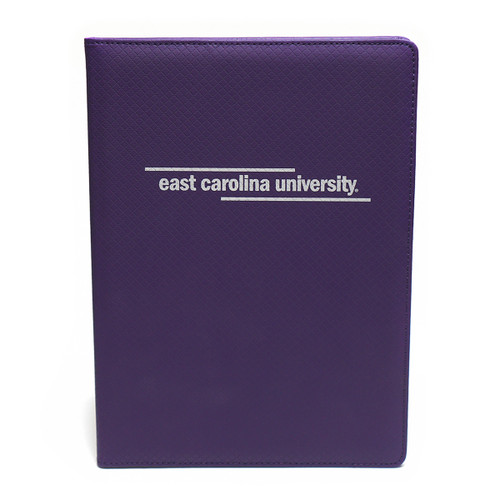 Padholder Purple White East Carolina