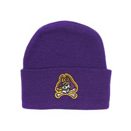 Newborn Cap Purple with Jolly Roger