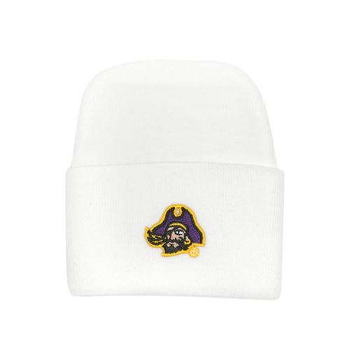 Newborn Cap White with Piratehead
