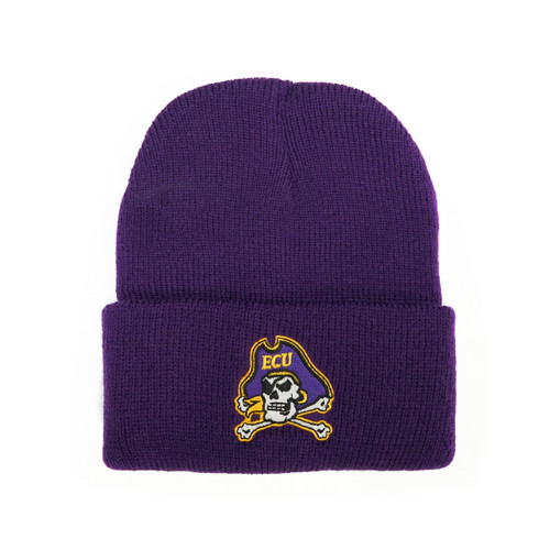 Youth Purple Beanie with Jolly Roger