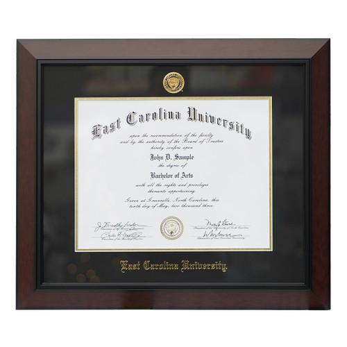 Legacy Black Cherry Black Mat ECU Diploma Frame