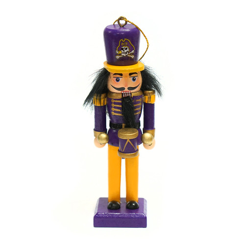 Little ECU Drummer Nutcracker Ornament