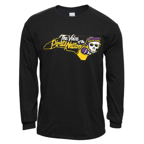 Voice of the Pirate Nation Black Long Sleeve Tee