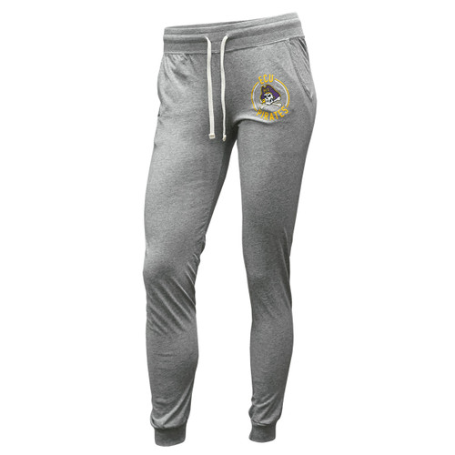 Ladies Grey Jogger Pants ECU Circle