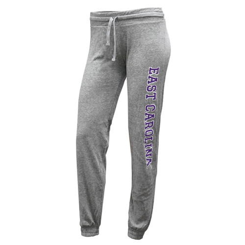 Ladies Heather Grey Jogger Pants East Carolina