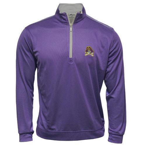 Purple Pin Dot Pullover Zip Up