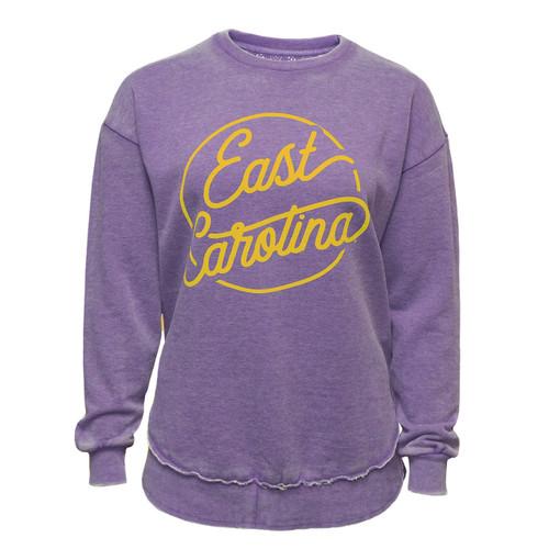 Vintage Purple & Gold East Carolina Ladies Sweatshirt