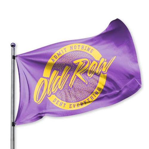 Old Row Retro Circle Flag Purple