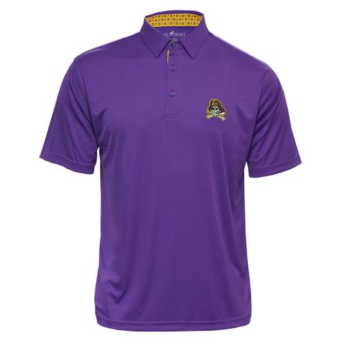 Purple Polo Icon Pattern Collar