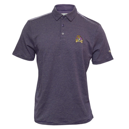 Tommy Bahama Pacific Shore Purple Jolly Roger Heather Stripe Polo