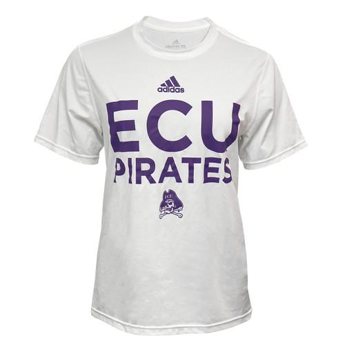 Adidas White Ladies ECU Pirates Tee