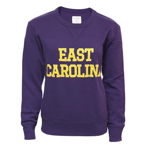 Ladies Purple East Carolina Crew