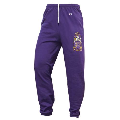Purple Sweatpants Joger Roger ECU Pirates