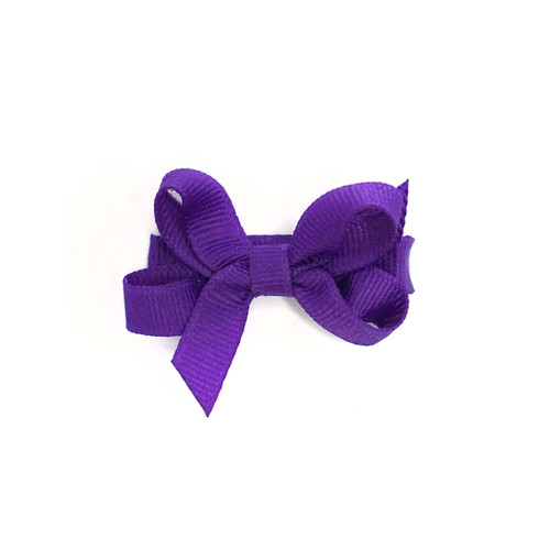 Purple Bow with Alligator Clip