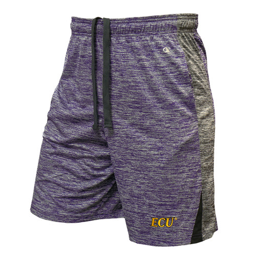 Purple Heather Shorts Grey Accent