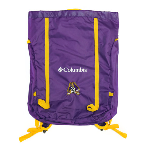 Jolly Roger Purple and Gold Cinch Backpack