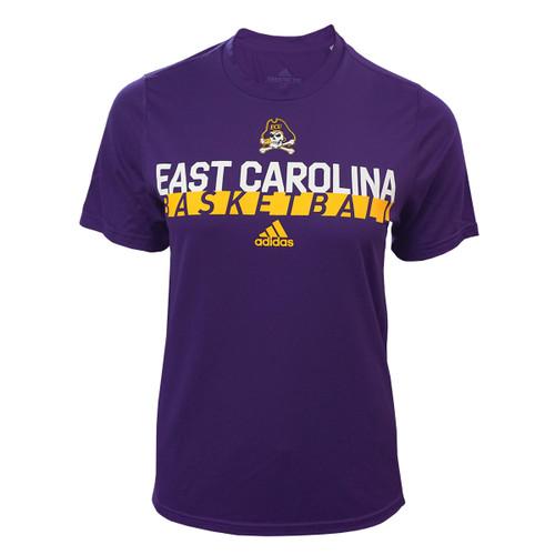 Ladies Purple East Carolina Basketball Creator Tee