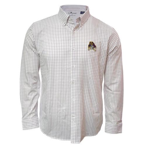 White & Purple Check Jolly Roger Dress Shirt