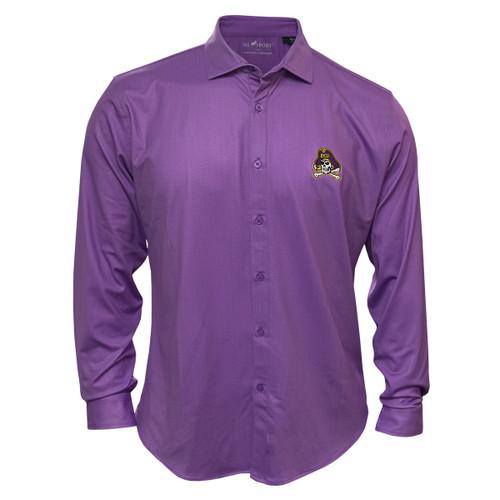 Purple Bamboo Jolly Roger Dress Shirt