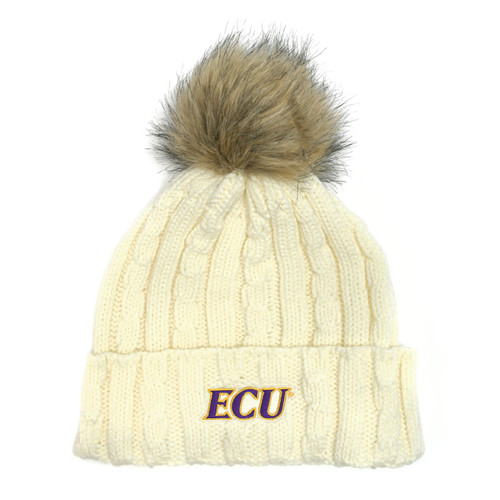 Furry Cream ECU Beanie