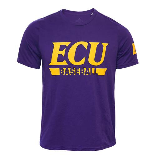 Purple Adidas ECU Baseball Creator Tee