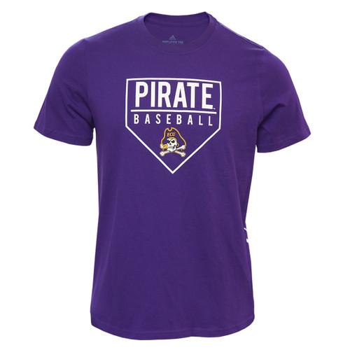 Purple Pirates Home Plate Baseball Tee