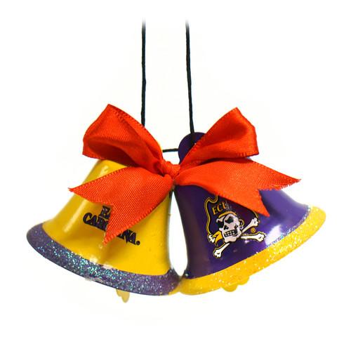 Purple & Gold Bells ECU Ornament