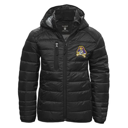 Youth Soft Shell ECU Black Puffy Jacket