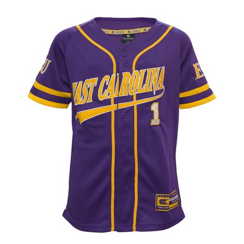 Purple Youth East Carolina Baseball Jersey