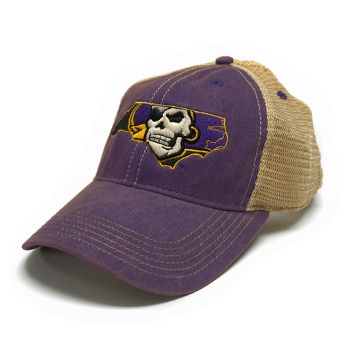 Youth Vintage Purple Pirate Nation Trucker Cap