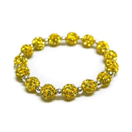 Gold Glitter Bead Bracelet