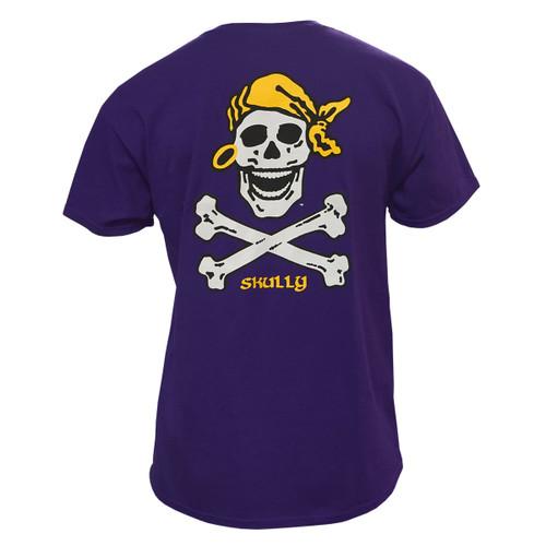 The Original Purple Skully Crossbones Tee