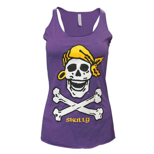 Purple Ladies Summer Skully Tank
