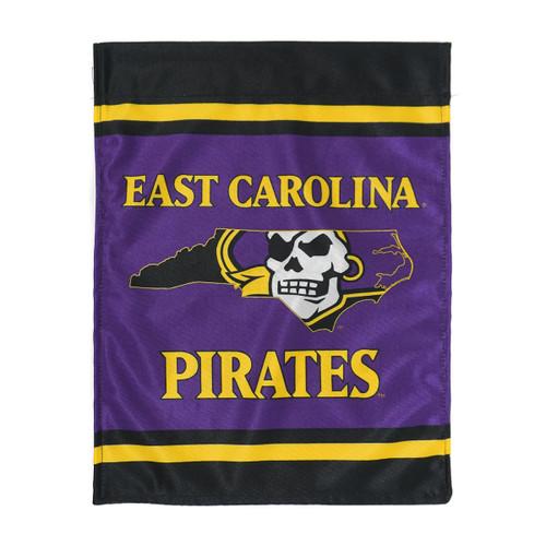 Purple Stripe East Carolina Pirate Nation Garden Flag