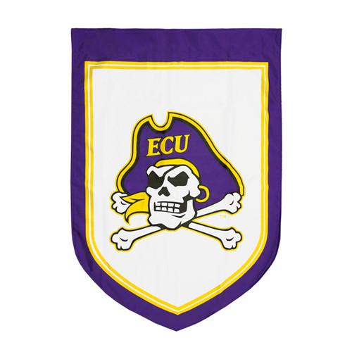 White Jolly Roger Shield Garden Flag