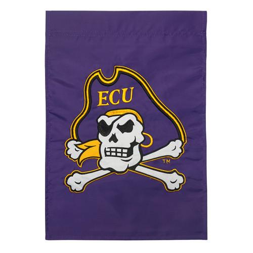 Purple Jolly Roger Garden Flag