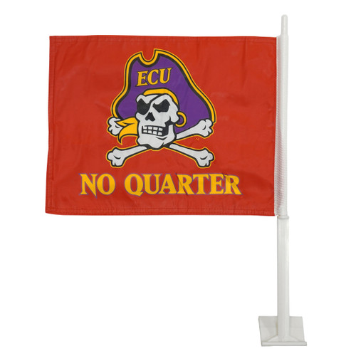 No Quarter Red Car Flag