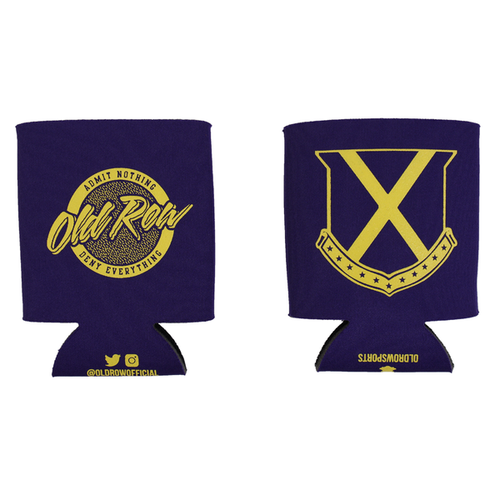 Tailgate Koozie Purple and Gold