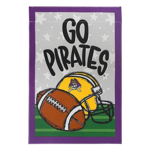 Go Pirates ECU Football Garden Flag