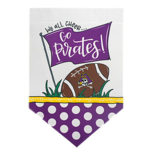 Go Pirates ECU Football Shield Garden Flag
