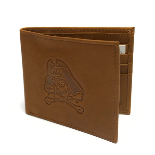 Cognac Leather Jolly Roger Bifold Wallet