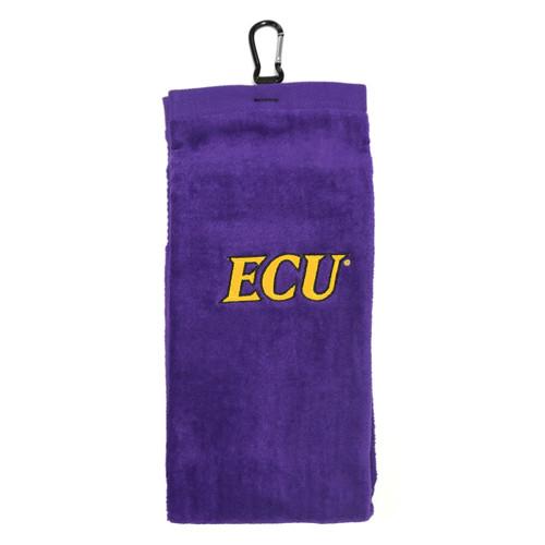 Purple Trifold ECU Golf Towel