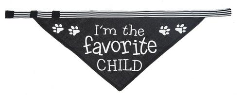 Dog Bandana I'm the favorite child