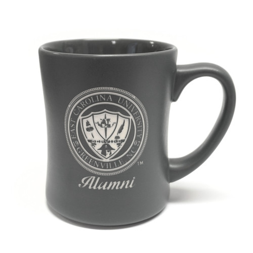 Matte Grey ECU Seal Alumni Mug